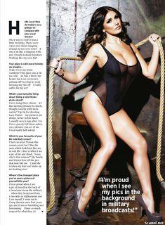 Эротичная Люси Пиндер  в журнале Nuts фото #5