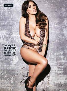 Эротичная Люси Пиндер  в журнале Nuts фото #6
