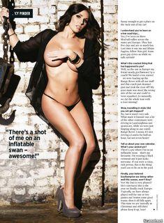 Эротичная Люси Пиндер  в журнале Nuts фото #8