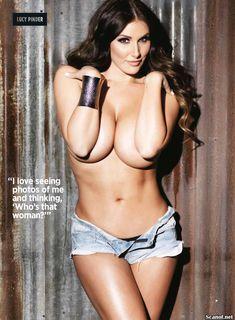 Эротичная Люси Пиндер  в журнале Nuts фото #10