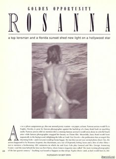 Обнаженная Розанна Аркетт  в журнале Playboy фото #2