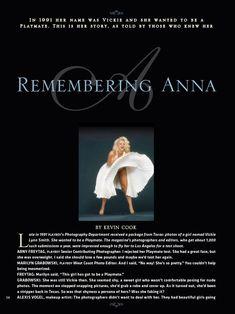 Раздетая Анна Николь Смит  в журнале Playboy фото #2