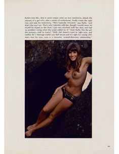 Сочная голая грудь Барби Бентон на фото в журнале Playboy фото #7