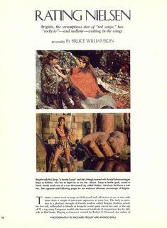 Голая грудь Бриджит Нильсен на сочных кадрах в журнале Playboy фото #1