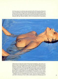 Голая грудь Бриджит Нильсен на сочных кадрах в журнале Playboy фото #4