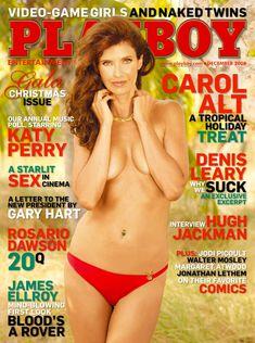 Красивая Кэрол Олт позирует голой в журнале Playboy фото #1