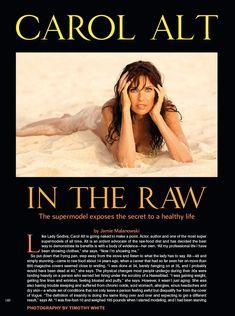 Красивая Кэрол Олт позирует голой в журнале Playboy фото #2