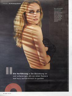 Соблазнительная Дайан Крюгер  в журнале GQ фото #3