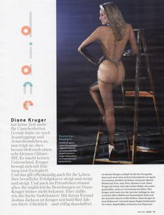 Соблазнительная Дайан Крюгер  в журнале GQ фото #8