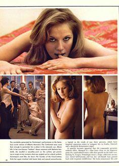 Красавица Доминик Санда снялась голой в журнале Playboy фото #2