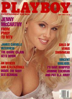 Волосатая писька Дженни Маккарти в журнале Playboy фото #1
