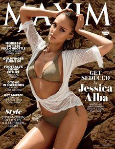 Торчащие соски Джессики Альбы  в журнале Maxim фото #1