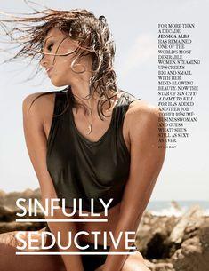 Торчащие соски Джессики Альбы  в журнале Maxim фото #2