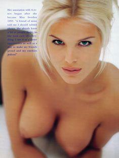 Молодая Виктория Сильвстедт позирует  в журнале Playboys Playmate Test фото #5