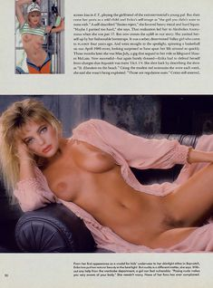 Эрика Элениак  без трусов и лифчика в журнале Playboy фото #3