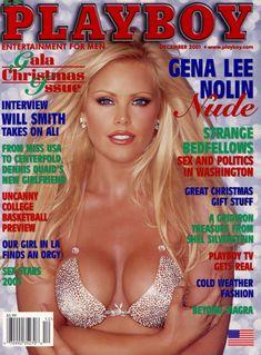 Абсолютно обнажённая Джина Ли Нолин красиво позирует в журнале Playboy фото #1