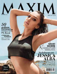 Утонченная Джессика Альба  в журнале Maxim фото #1