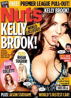 Возбуждающие сиськи Келли Брук в журнале Nuts фото #1