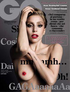 Леди Гага с голой сиськой на обложке журнала GQ фото #1