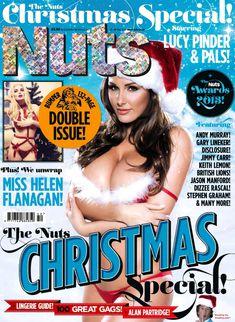 Большая голая грудь Люси Пиндер в журнале Nuts фото #1
