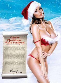Большая голая грудь Люси Пиндер в журнале Nuts фото #2
