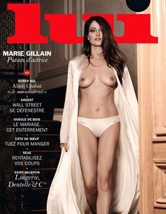 Обнажённая грудь Мари Жиллен появилась в журнале Lui фото #1