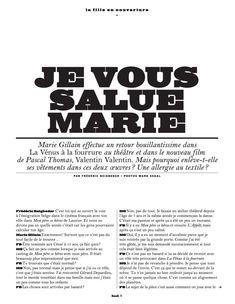 Обнажённая грудь Мари Жиллен появилась в журнале Lui фото #2