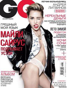 Развратная штучка Майли Сайрус  в журнале GQ фото #1