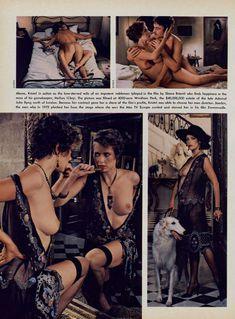 Красотка Сильвия Кристель позирует с голой грудью в журнале Playboy фото #5