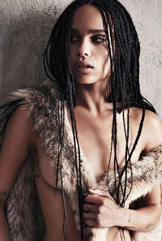 Эротическая фотосессия Зои Кравиц для журнала GQ, Июнь 2015