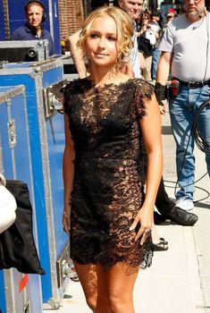 Откровенное платье Хайден Панеттьери на Late Show, США, Июль 2009, Июль 2009