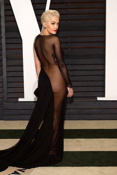 Рита Ора без белья на афтепати после Оскара, 2015