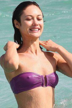 Торчащие соки Ольги Куриленко в Майами, 29.10.2012