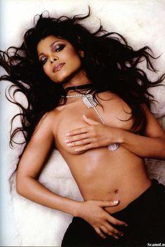 Сексуальная Джанет Джексон топлесс снялась в журнале Maxim, Май 2002