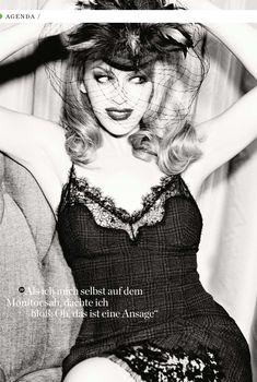 Кайли Миноуг  в эротическом белье для журнала GQ, Апрель 2014