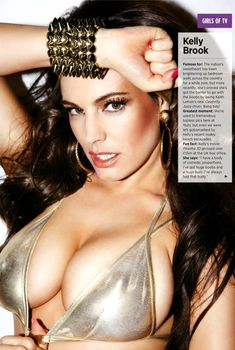Пышный бюст Келли Брук в журнале Nuts, Август 2013