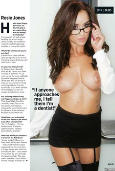 Обнаженная Рози Джонс в журнале Nuts, Март 2014