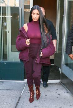 Ким Кардашьян засветила грудь в Нью-Йорке, Февраль 2017