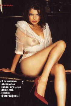 Анна Азарова засветила грудь в журнале Maxim, 2004
