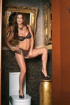 Арина Махова в сексуальном нижнем белье для Loaded, 2007