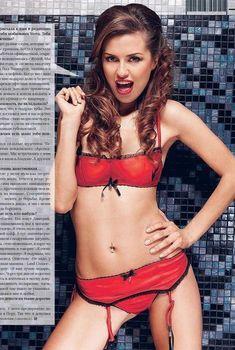 Виктория Боня позирует в белье в журнале SIM, 2007