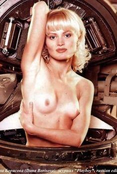 Голые сиськи Даны Борисовой в журнале Playboy, 1997