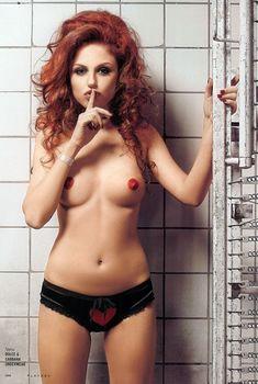 Ирина Забияка показала сиськи в журнале Playboy, 2008