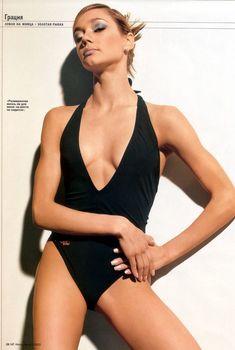 Ирина Чащина в купальнике для журнала Men's Fitness, 2000