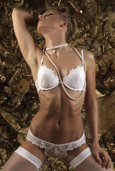 Кристина Асмус в эротическом белье