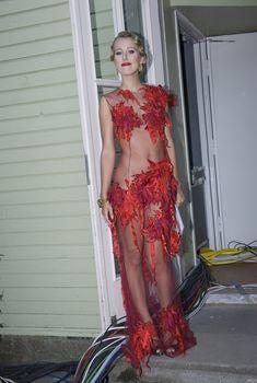 Ксения Собчак в просвечивающем платье