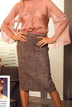 Светлана Хоркина засветила грудь в журнале GALA, Февраль 2005