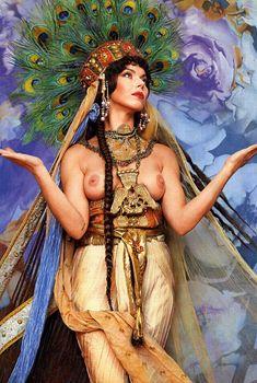 Голая грудь Лады Дэнс в журнале «Караван историй», 2001