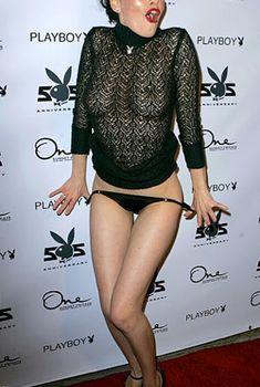 Даша Астафьева в прозрачном платье снимает трусики на 55-ой вечеринке Playboy, 2008