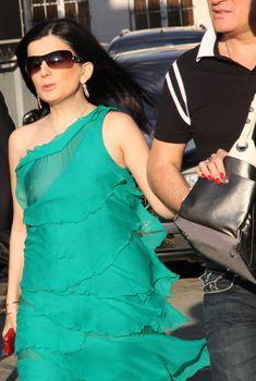 Диана Гурцкая засветила сосок сквозь красивое платье, Июнь 2011
